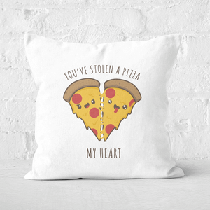 A Pizza My Heart Square Cushion
