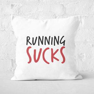 Running Sucks Square Cushion