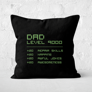 Dad Level Up Square Cushion