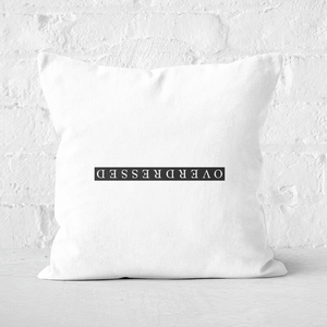 Overdressed Black Square Cushion