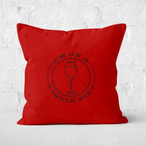 Liquid Diet Wine Square Cushion