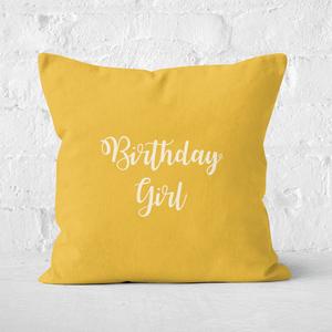 Birthday Girl Square Cushion