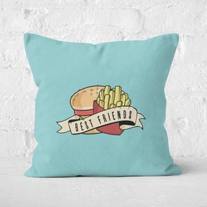 Fast Food Friends Square Cushion