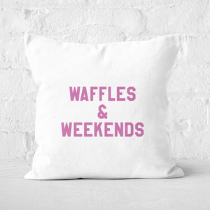 Waffles And Weekends Square Cushion