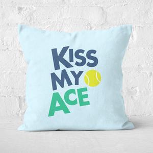 Kiss My Ace Square Cushion