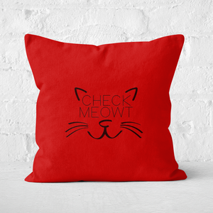 Check Meowt Square Cushion