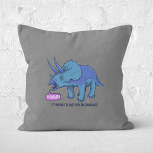 Rawr It Means I Love You Square Cushion