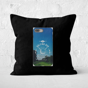Golf Dad Phone Case Square Cushion