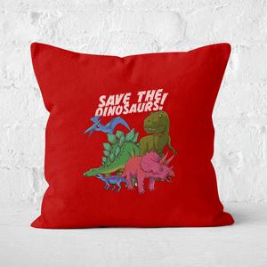 Save The Dinosaurs Square Cushion