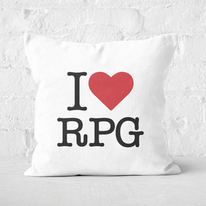 I Love RPG Square Cushion