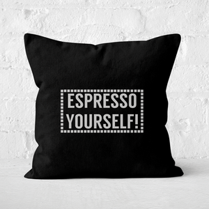Expresso Yourself Square Cushion
