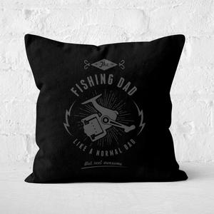 Fishing Dad Square Cushion