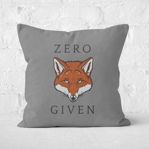 Zero Fox Given Square Cushion