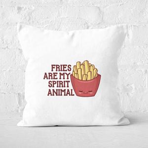 Fries Are My Spirit Animal Square Cushion