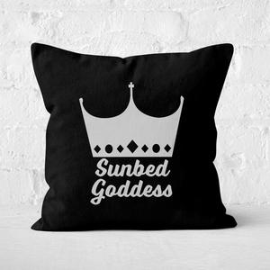 Sunbed Goddess Square Cushion