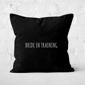 Bride In Training Square Cushion