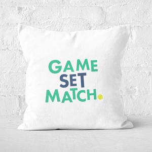 Game Set Match Square Cushion