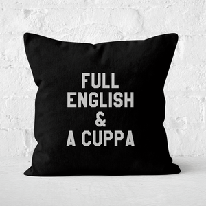 Full English And A Cuppa Square Cushion