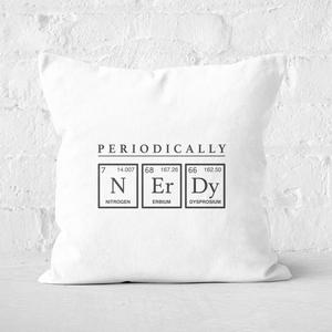 Periodically Nerdy Square Cushion