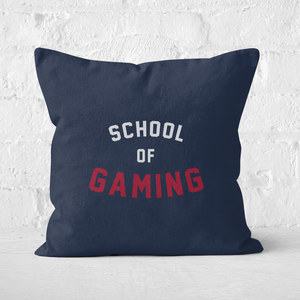 School Of Gaming Square Cushion