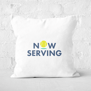 Now Serving Square Cushion