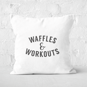 Waffles And Workouts Square Cushion