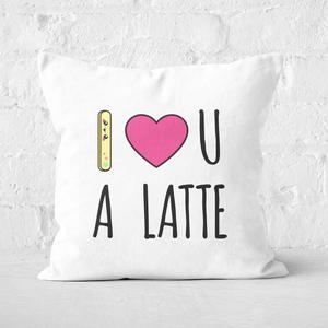 I Love U A Latte Square Cushion