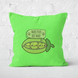Makes Peas Not War Square Cushion