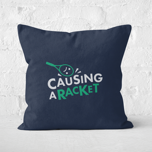 Causing A Racket Square Cushion