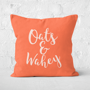 Oats And Wahey Square Cushion