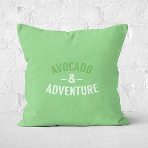 Avocado And Adventure Square Cushion
