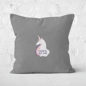 Unicorns Are Real Square Cushion
