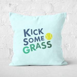 Kick Some Grass Square Cushion
