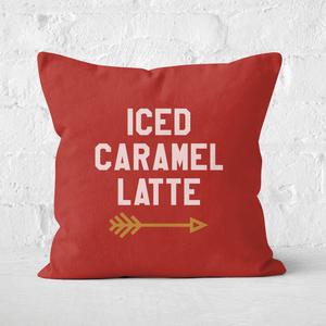 Iced Caramel Latte Square Cushion