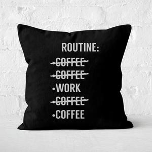 Coffee Routine Square Cushion
