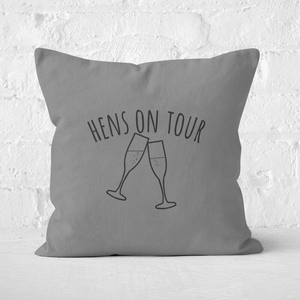 Hen's On Tour Square Cushion