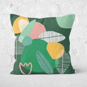 Earth Friendly Earth Garden Print Square Cushion