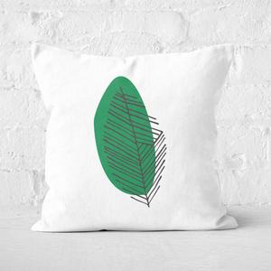 Earth Friendly Slanted Leaf Square Cushion