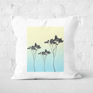 Pressed Flowers Mellow Tones Ombre Flowers Square Cushion