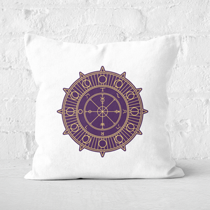Pressed Flowers Wheel Of Fortune Square Cushion