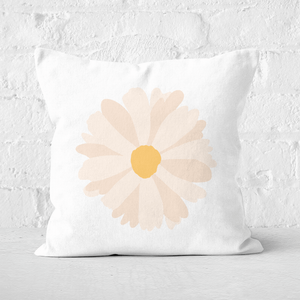 Pressed Flowers Daisy Square Cushion