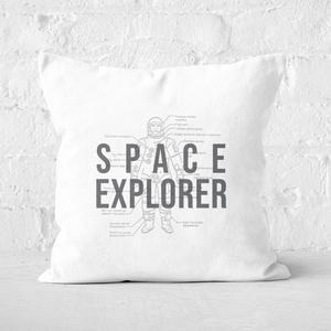 Space Explorer Schematic Square Cushion