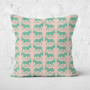 Earth Friendly Zebra Square Cushion