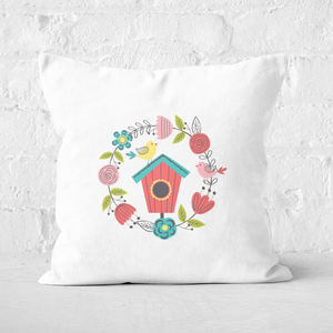 Pressed Flowers Spring Home Square Cushion