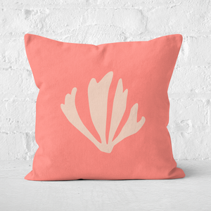 Pressed Flowers Leaf Square Cushion