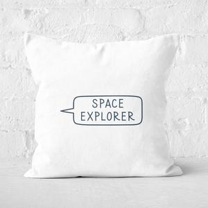 Space Explorer Square Cushion