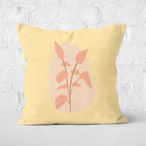 Pressed Flowers Stalk And Leaves Square Cushion