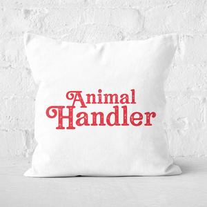 Pressed Flowers Animal Handler Square Cushion