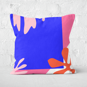 Pressed Flowers Bright Coloured Leaves Square Cushion