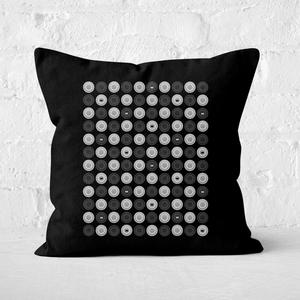 Monochrome Checkers Pattern Square Cushion